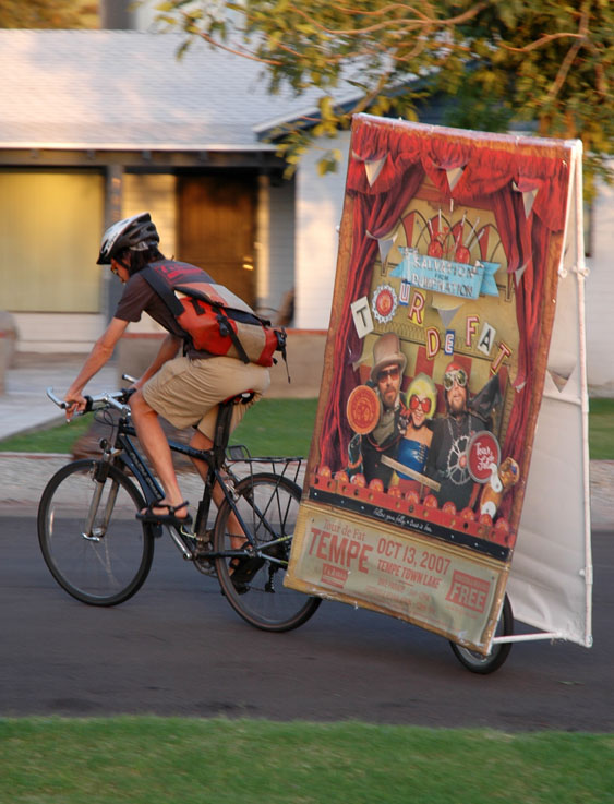 Rolling Tour de Fat sign