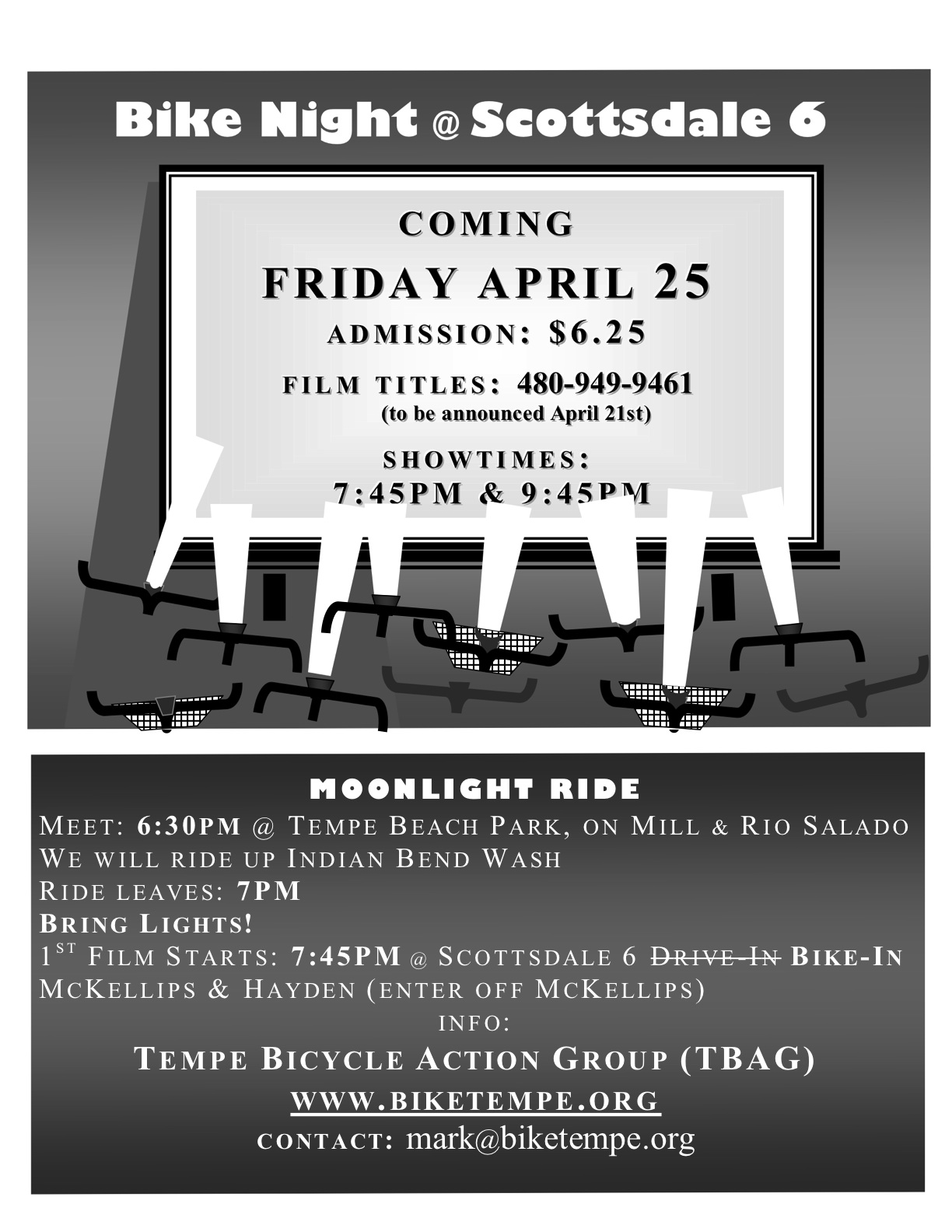 Bike-In movie flier