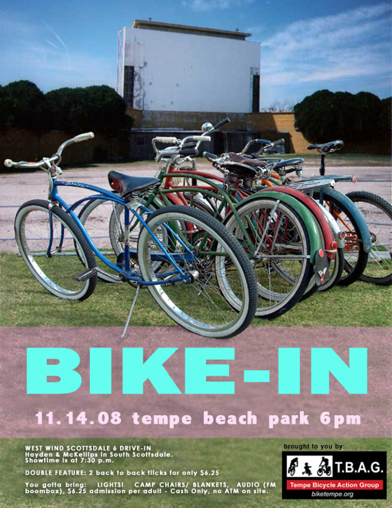 Bike-in movie poster