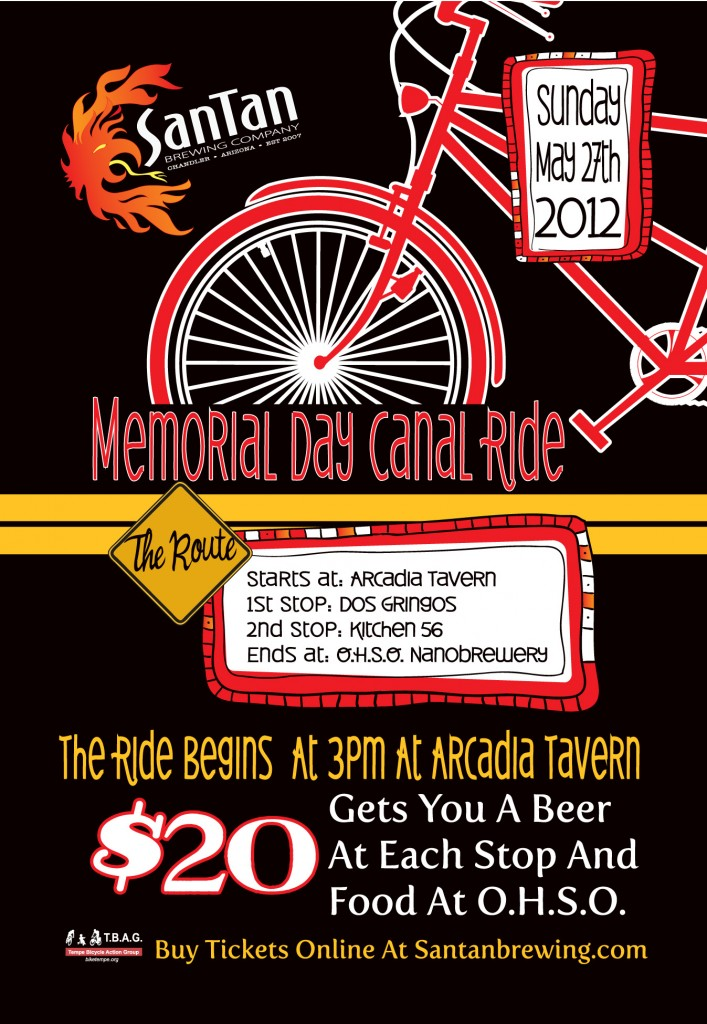 SanTan Memorial Day Canal Ride - Arcadia, Phoenix AZ