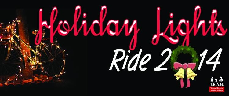 holiday lights ride 2014 banner