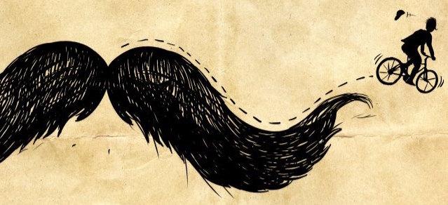 mustache ride 2014 banner